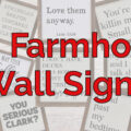 Funny Farmhouse Signs